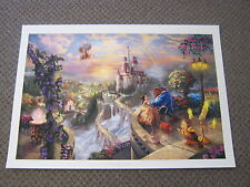 "Thomas Kinkade "" Beauty and The Beast  "" Signed & Numbered Disney Lithograph"