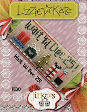 Lizzie Kate Jingles Wait 'til Dec 25 - Christmas Counted Cross Stitch Pattern