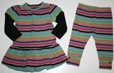 BABY GAP Color Block Tunic Dress Leggings Outfit Girl Size 6-12 Months CUTE!