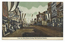 EARLY RICHMOND, INDIANA MAIN STREET FALL FESTIVAL PARADE PICTURE POSTCARD