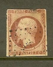 "FRANCE STAMP TIMBRE N° 18 "" NAPOLEON III 1F CARMIN "" OBLITERE A VOIR"