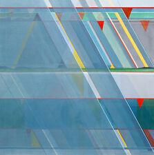 """Raro Brian George R.b.a a.r.o.i Original """"llovió Off"""" Pintura al óleo abstracta"""