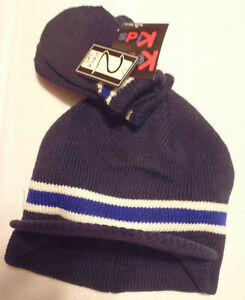 Kozy Kids Hat Mitten Set Boys Size Toddler 2-4 NWT Choice Navy Brown Red
