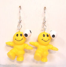 NEW Silly Sports Soccer Dudes Happy Smile Smiley Face Figures Dangle Earrings