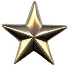 "Western Equestrian Cowboy Decor Set of 6  Antique Gold Star 3/4"" Conchos"