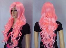 Belle et longue roses frisée synthèse perruquewig+hairnet