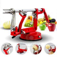 New Red 3 in 1 Safe Apple Slinky Machine Kitchen Tool Peeler Corer Slicer Fruit