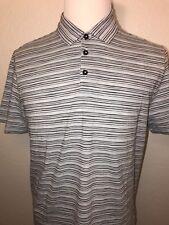 ec98c7bb New $118 BOSS Hugo Boss Short Sleeve Regular Fit Striped Polo Shirt L