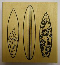 Surboard Trio Rubber Stamp by JudiKins
