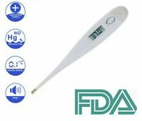 Digital Thermometer Baby Child Fever Alarm Auto Off LCD First Aid Medical Adult