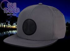 New Hurley Icon Fusion Mens Gray Snapback Hat Cap