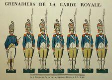UNBEKANNT (20.Jhd), Grenadiere der Garde Royale,  1804, Reproduktion
