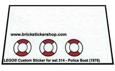 Replica Pre-Cut Transparant Sticker for Legoland Boat set 314 - Police Boat