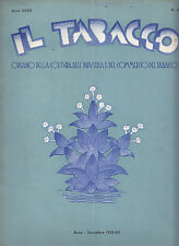 U212-IL TABACCO 1935-RIVISTA DELL'INDUSTRIA E COMMERCIO
