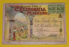 Souvenir Folder of California Missions 1920s Postcard Folder Great Pictures See!