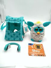 2012 Hasbro Furby Grey & Blue Interactive pet Toy w/carrying case - Headphones
