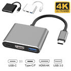 USB-C Type C to 4K HDMI HDTV Adapter Cable For Samsung Galaxy S8 S9 Macbook UK