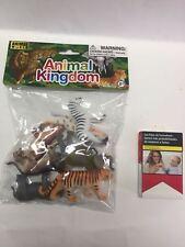 Animales salvajes Animal Kingdom goma plástico bolsa con animales