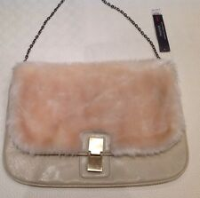 aa06c6e88a BRAND NEW WITH TAGS GORGEOUS DOROTHY PERKINS FAUX FUR CREAM COLOURED BAG
