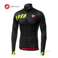NEW Castelli PISA Thermal Long Sleeve Full Zip Cycling Jersey : LIGHT BLACK