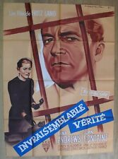 FILM NOIR FRENCH movie poster FBI STORY Jimmy STUART vera MILES 24X36