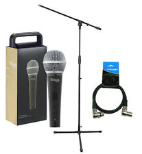 Stagg SDM50 Metal Heavy Duty Dynamic Handheld Microphone inc Stand & XLR Lead