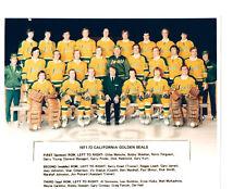 1971 1972 CALIFORNIA GOLDEN SEALS 8X10 TEAM PHOTO HOCKEY NHL