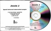 JESSIE J Who You Are Special Advanced Watermarked Sampler UK 4-trk promo test CD