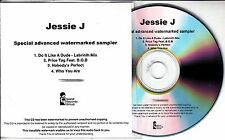 JESSIE J Who You Are Sampler 2011 UK watermarked 4-track promo only CD Labrinth