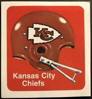 1970 KANSAS CITY CHIEFS Sticker LARGE Decal ORIGINAL 1970's Free Shipping 4 X 4