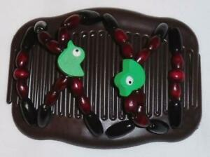 """Angel Wings Hair Clips 4x3.5"""", African Butterfly Style, US SELLER, Quality S89"""