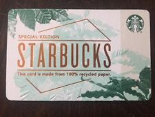 "Canada Series Starbucks ""RECYCLED PAPER 2018"" Gift Card - New No Value - Eng/Fr"