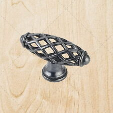 "Cabinet Hardware Bird Cage Knobs kL49 Black Antique 2-5/16"""