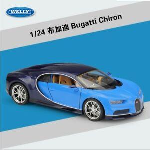 1:24 Welly Bugatti Chiron Diecast Metal Model Sportcar New in Box