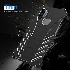 Armor Aluminum Metal Bumper Kickstand Back Case Cover For iPhone X 6 7 8 Plus