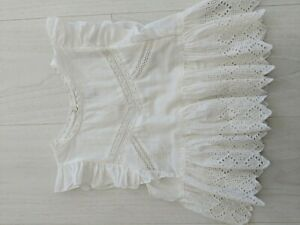 Zara trf Broderie Blouse Size Small
