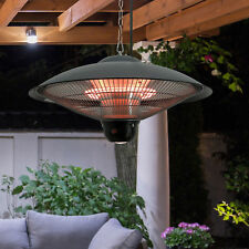 Hanging Ceiling Electric Halogen Patio Heater Outdoor Indoor Remote Control LED