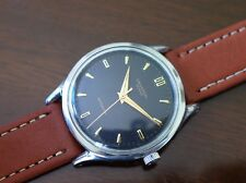 Vintage mens Universal Geneve automatic bumper black dial fully restored rare!!!