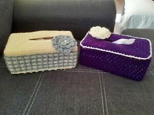 Woolen handmade Tissue Box Cover