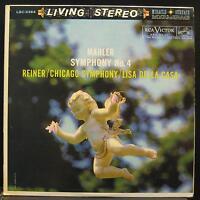 REINER mahler sym 4 LP VG+ LSC-2364 Living Stereo White Dog Vinyl 1960 Record