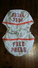 Vintage Detroit Free Press Newspaper Carrier Delivery Double Bike Bag Paperboy