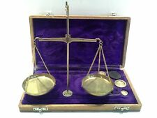 Vintage Brass Hanging Scales Boxed Design with all Weights