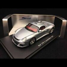 Porsche 997 RUF CTR3 Présentation 2007 gris argent 1/43 Spark S0714