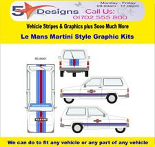 Reliant Robin Le Mans Martini Race Rally Graphic Kit 1