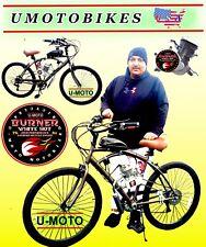 "66cc 80cc 2-Stroke Motorized Bike Kit And 26"" 7-Speed Cruiser Bike Diy Motorbike"