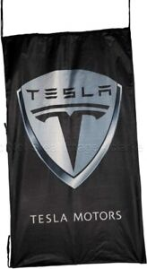 Tesla Motors Flag  black vertical  1500mm x 900mm (of)
