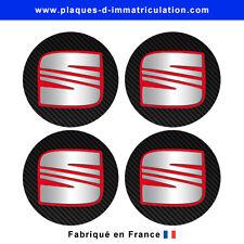 sticker Seat aspect carbone pour cache moyeu de jante (lot de 4) seat-carb-03