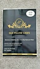 Pair of Pure Mulberry Silk Pillow cases Anti-Ageing Skin Friendly RRP £70 pair .