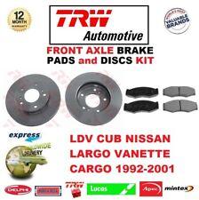 Für LDV Cub Nissan Largo Vanette 1992-2001 Vorderachse Bremse Polster und
