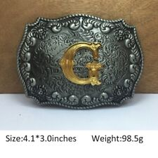 Cool Mens Western Cowboy Texas Rodeo InitialG Heavy Steel Belt Buckle Jewelry